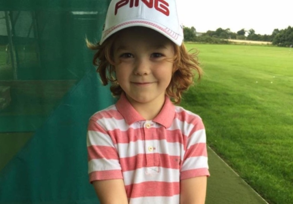 Freddy Sage, 7, made a hole-in-one after just 12 weeks of golf instruction. (Ian Parker)
