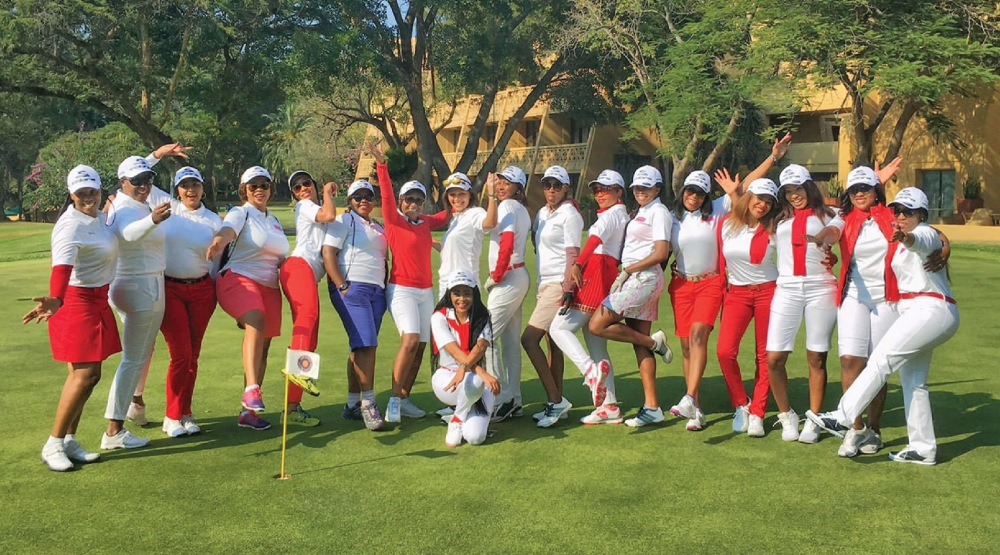 Women's Golf Day events split time between golf and socializing.