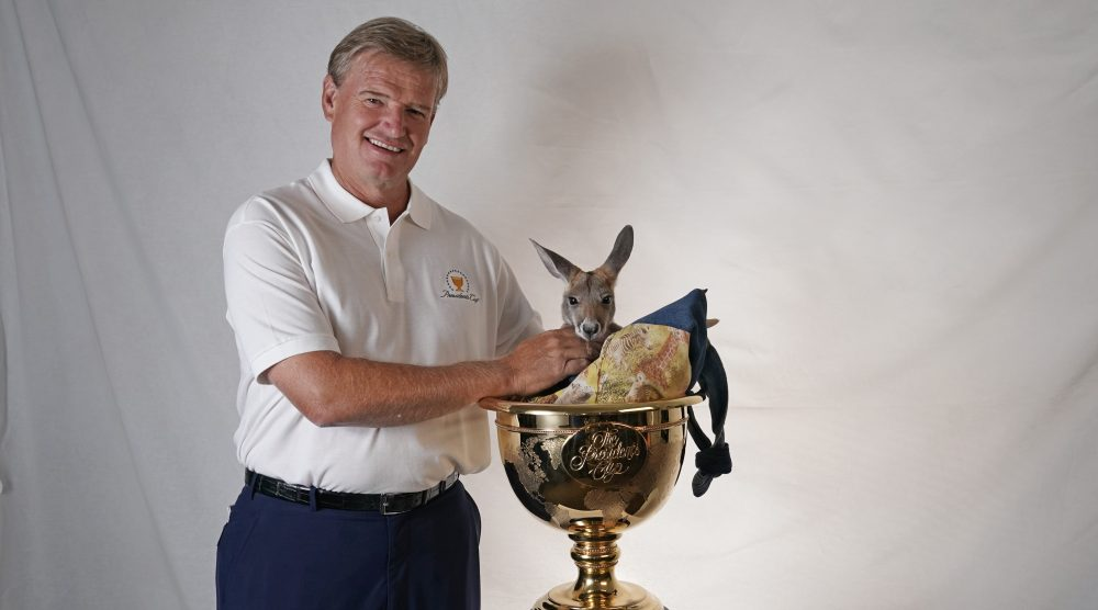 ORLANDO, FL - MARCH 13: Ernie Els of South Africa is named captain for the International team for the 2019 President's Cup in Melbourne, Australia prior to the Arnold Palmer Invitational presented by MasterCard at Bay Hill Club and Lodge on March 13, 2018 in Orlando, Florida. (Photo by Chris Condon/PGA TOUR)a. (Photo by Chris Condon/PGA TOUR)