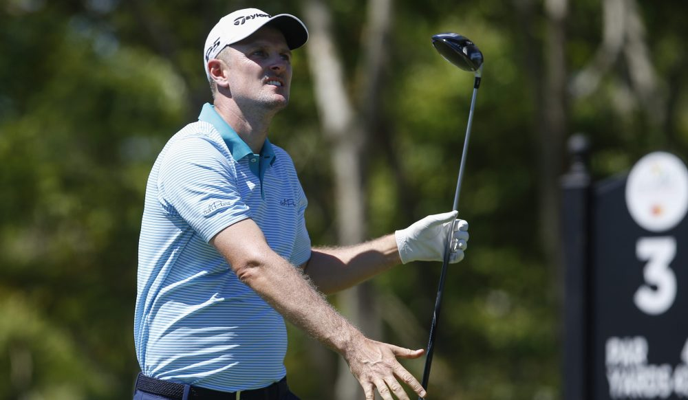 Mar 17, 2018; Orlando, FL, USA; Justin Rose hits his tee shot on the third hole during the third round of the Arnold Palmer Invitational golf tournament at Bay Hill Club & Lodge . Mandatory Credit: Reinhold Matay-USA TODAY Sports