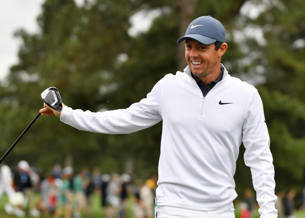 Apr 4, 2018; Augusta, GA, USA; Rory McIlroy walks off the third tee during a practice round for the Masters golf tournament at Augusta National Golf Club. Mandatory Credit: Michael Madrid-USA TODAY Sports