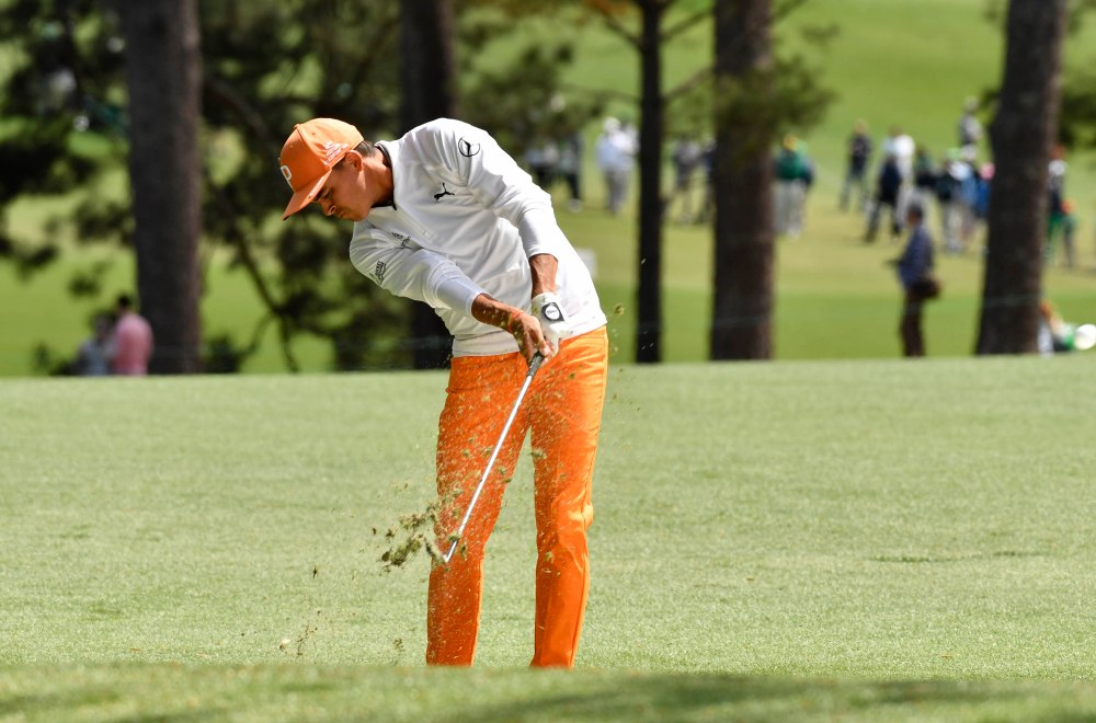 Rickie Fowler stood out in his orange Sunday at the Masters. (Michael Madrid-USA TODAY Sports)