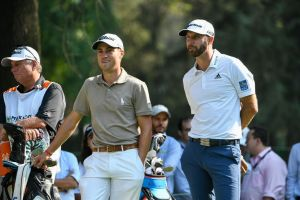 MEXICO CITY, MEXICO - MARCH 01: Justin Thomas and Dustin Johnson wait on the seventh tee during round one of the World Golf Championships-Mexico Championship at Club de Golf Chapultepec on March 1, 2018 in Mexico City, Mexico. (Photo by Ryan Young/PGA TOUR)