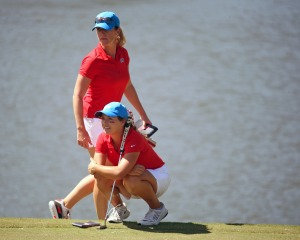 Ole Miss Women's Golf competes in the Magnolia Invitational at Old Waverley Golf Club in West Point, MS on Oct. 3rd, 2017. Julia Johnson, St. Gabriel, La. Kory Henkes, Head Coach] Photos by Petre Thomas/Ole Miss Athletics