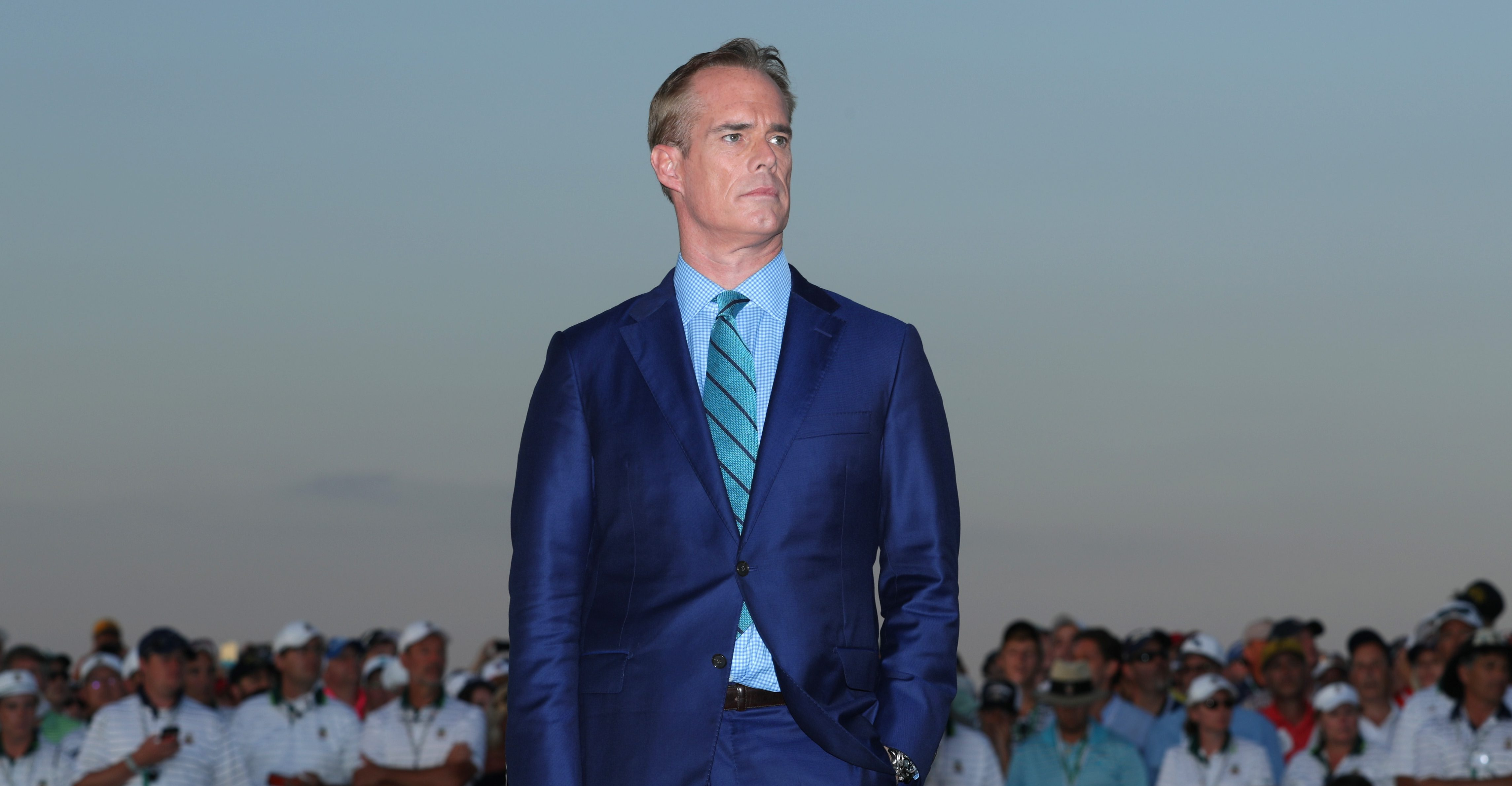 OAKMONT, PA - JUNE 19: Fox Sports golf anchor Joe Buck looks on after the final round of the U.S. Open at Oakmont Country Club on June 19, 2016 in Oakmont, Pennsylvania. (Photo by Sam Greenwood/Getty Images)