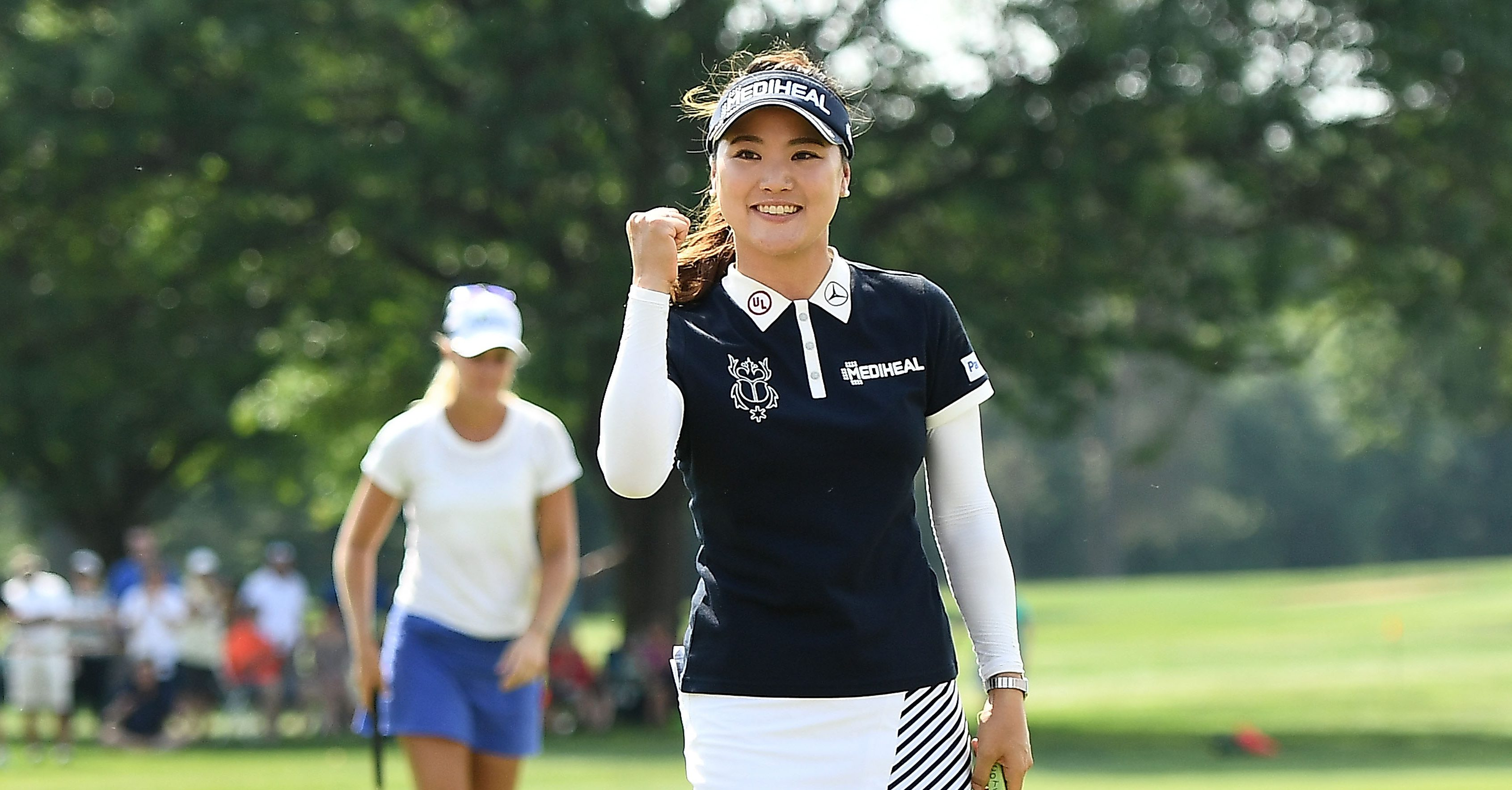 GRAND RAPIDS, MI - JUNE 17: So Yeon Ryu of South Korea reacts after winning the Meijer LPGA Classic for Simply Give at Blythefield Country Club on June 17, 2018 in Grand Rapids, Michigan. (Photo by Stacy Revere/Getty Images)