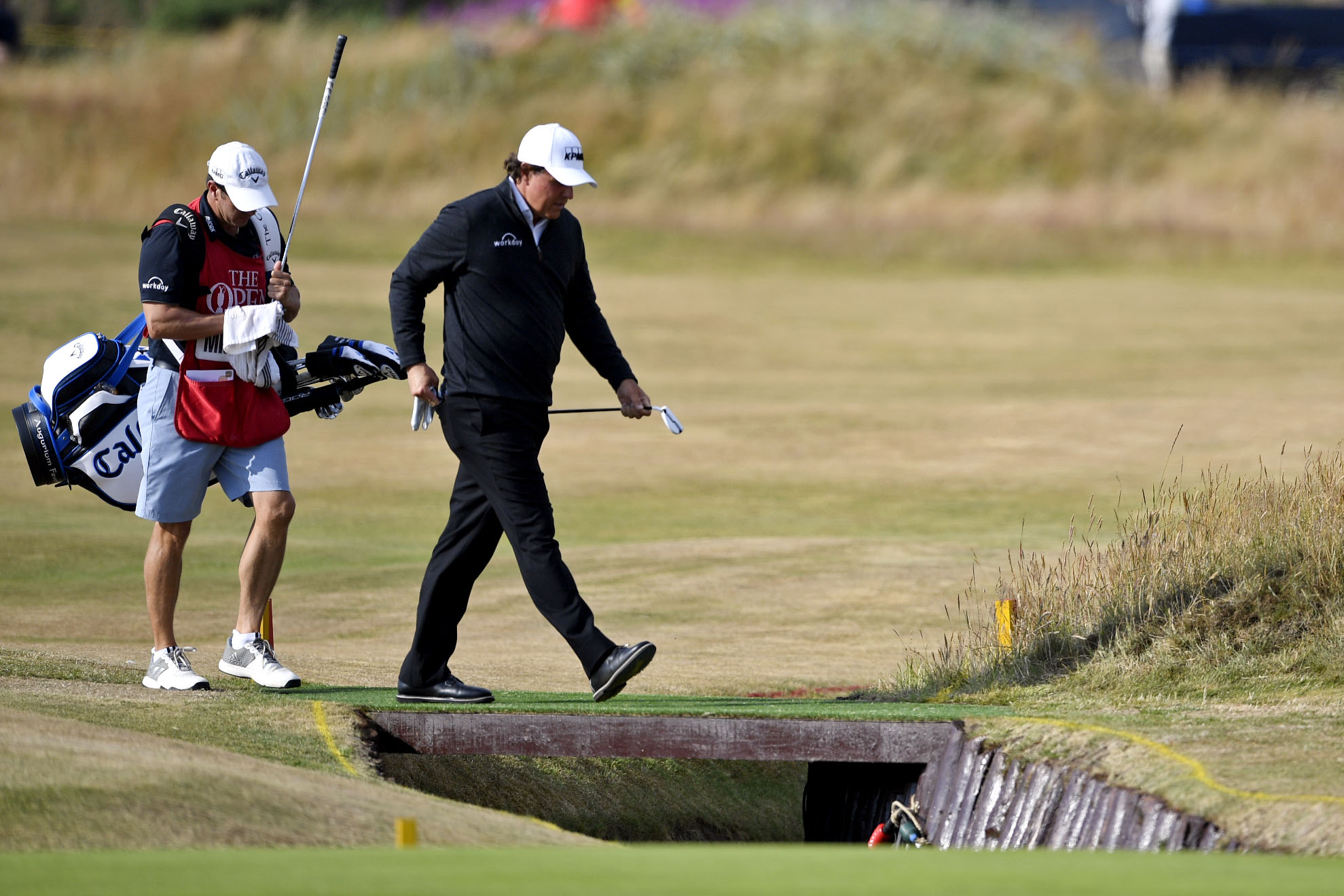 Phil Mickelson walked the plank on Thursday, shooting a 73 in Round 1 of the Open. (Steven Flynn/USA TODAY Sports)