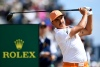 Jul 22, 2018; Carnoustie, Angus, SCT; Rickie Fowler plays his shot from the fourth tee during the final round of The Open Championship golf tournament at Carnoustie Golf Links.Mandatory Credit: Steve Flynn-USA TODAY Sports