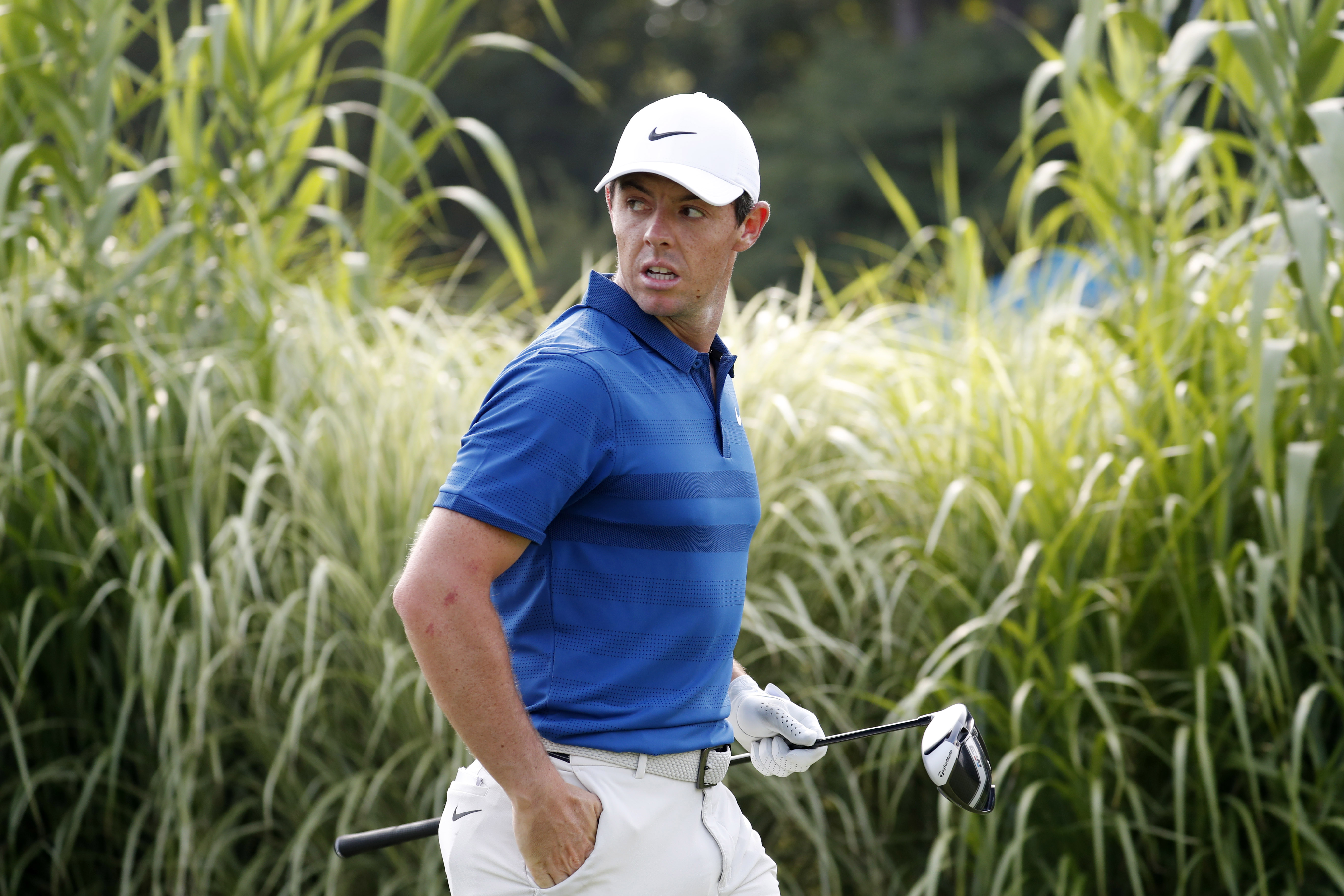 Aug 5, 2018; Akron, OH, USA; PGA golfer Rory McIlroy walks the 16th hole during the final round of the WGC - Bridgestone Invitational golf tournament at Firestone Country Club - South Course. Mandatory Credit: Brian Spurlock-USA TODAY Sports