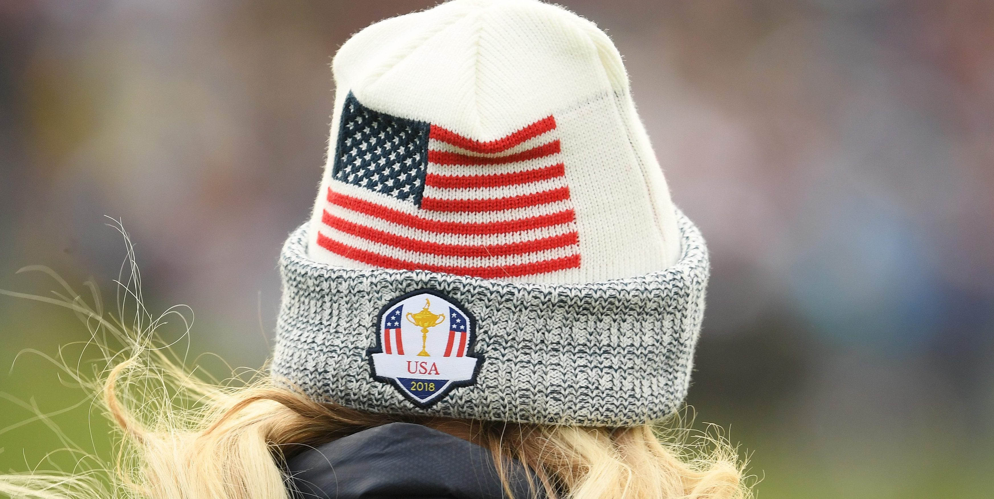 PARIS, FRANCE - SEPTEMBER 30: A detailed view of a Team USA hat during singles matches of the 2018 Ryder Cup at Le Golf National on September 30, 2018 in Paris, France. (Photo by Ross Kinnaird/Getty Images)