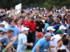 Sep 23, 2018; Atlanta, GA, USA; The crowd follows Tiger Woods down the 18th green during the final round of the Tour Championship golf tournament at East Lake Golf Club. Mandatory Credit: Christopher Hanewinckel-USA TODAY Sports