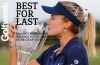 NAPLES, FL - NOVEMBER 18: Lexi Thompson poses for a photo with the CME Group Tour Championship trophy at Tiburon Golf Club on November 18, 2018 in Naples, Florida. (Photo by Michael Reaves/Getty Images)