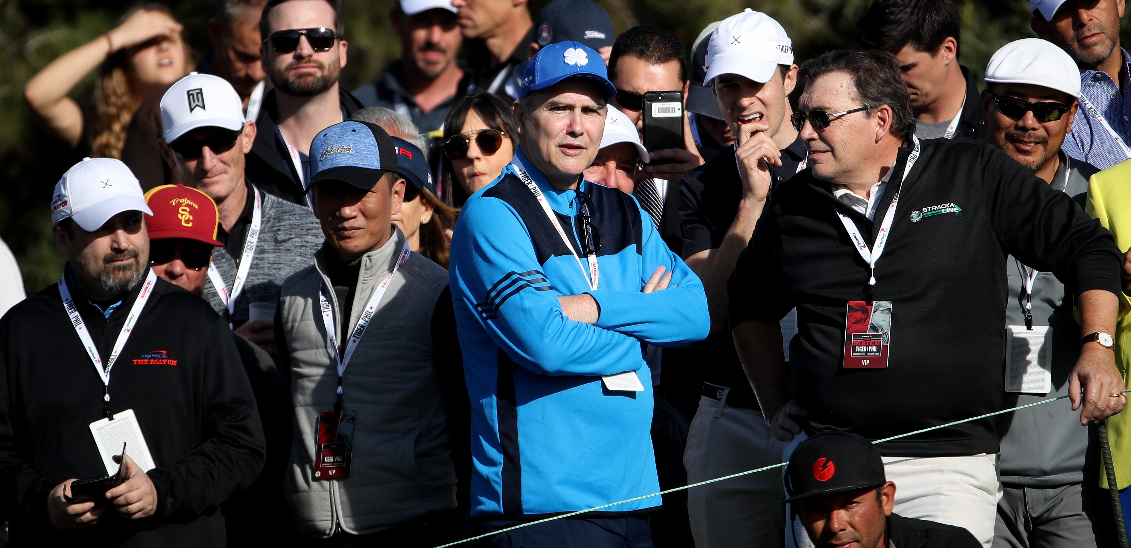 LAS VEGAS, NV - NOVEMBER 23: Comedian Norm Macdonald during The Match: Tiger vs Phil at Shadow Creek Golf Course on November 23, 2018 in Las Vegas, Nevada. (Photo by Christian Petersen/Getty Images for The Match)
