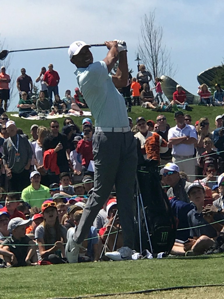 Tiger Woods in Missouri in 2018 clinic
