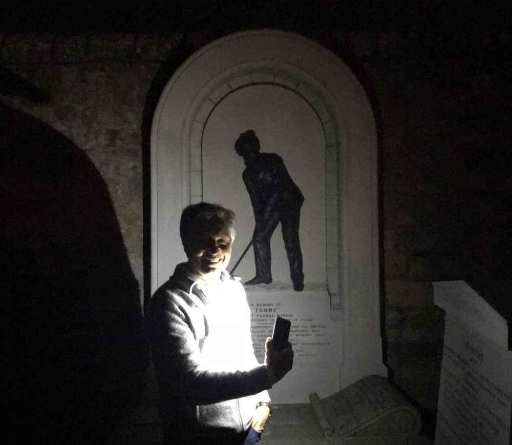 Golf Channel Brandel Chamblee pays his respects at the grave of Old Tom Morris