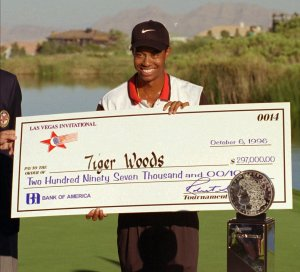 Tiger Woods first PGA Tour victory