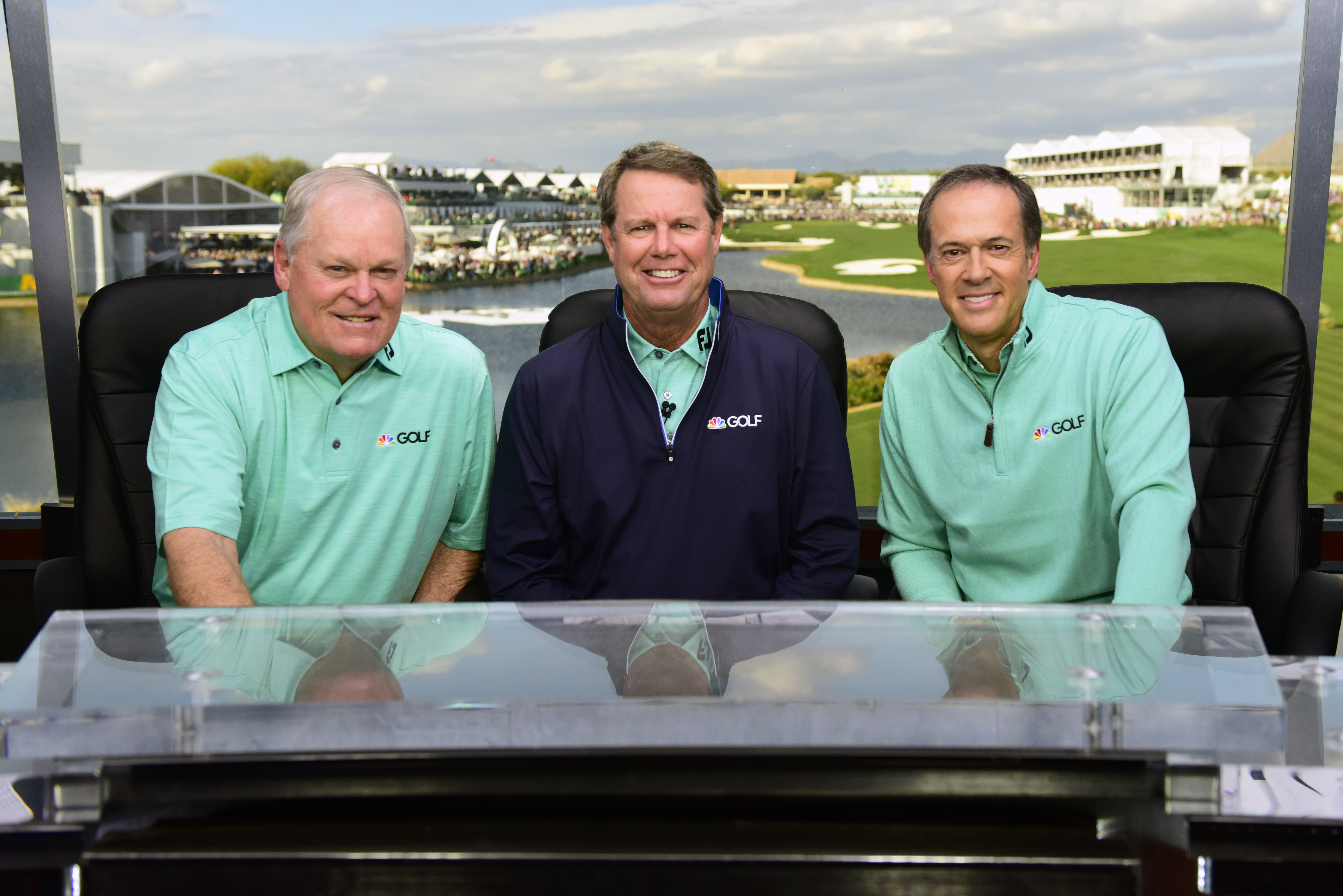 Johnny Miller, Paul Azinger, Dan Hicks, NBC