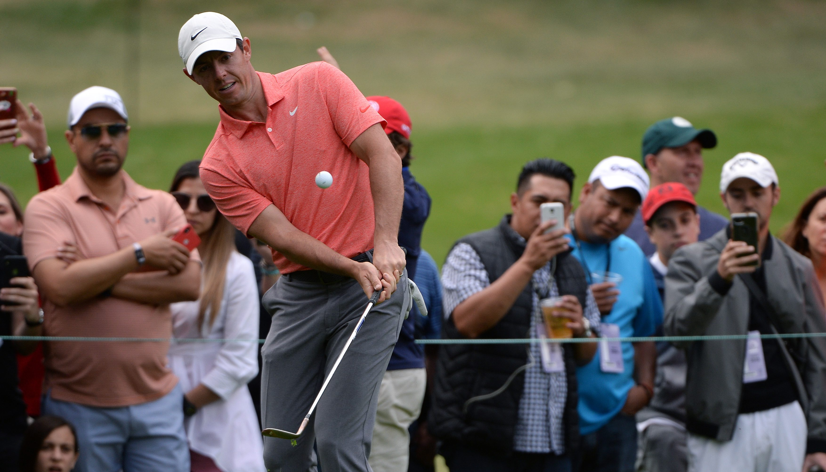 Feb 24, 2019; Mexico City, MEX; Rory McIlroy plays his shot on the 13th hole during the final round of the WGC - Mexico Championship golf tournament at Club de Golf Chapultepec. Mandatory Credit: Orlando Ramirez-USA TODAY Sports