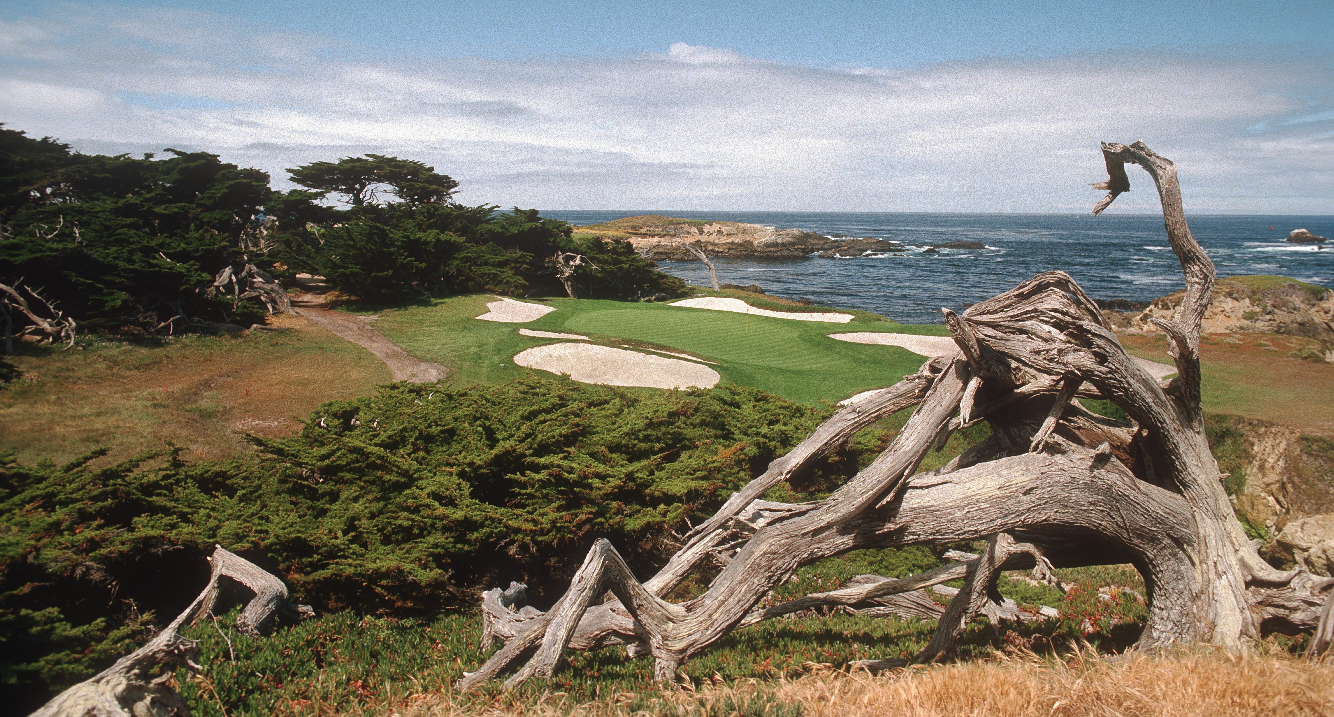 The 15th hole of the Cypress Point Golf Course in California, circa 1999. (Photo by Phil Sheldon/Popperfoto/Getty Images)