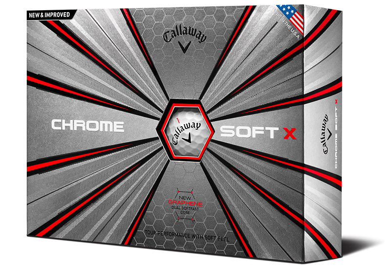 Callaway Chrome Soft X golf balls with Triple Track