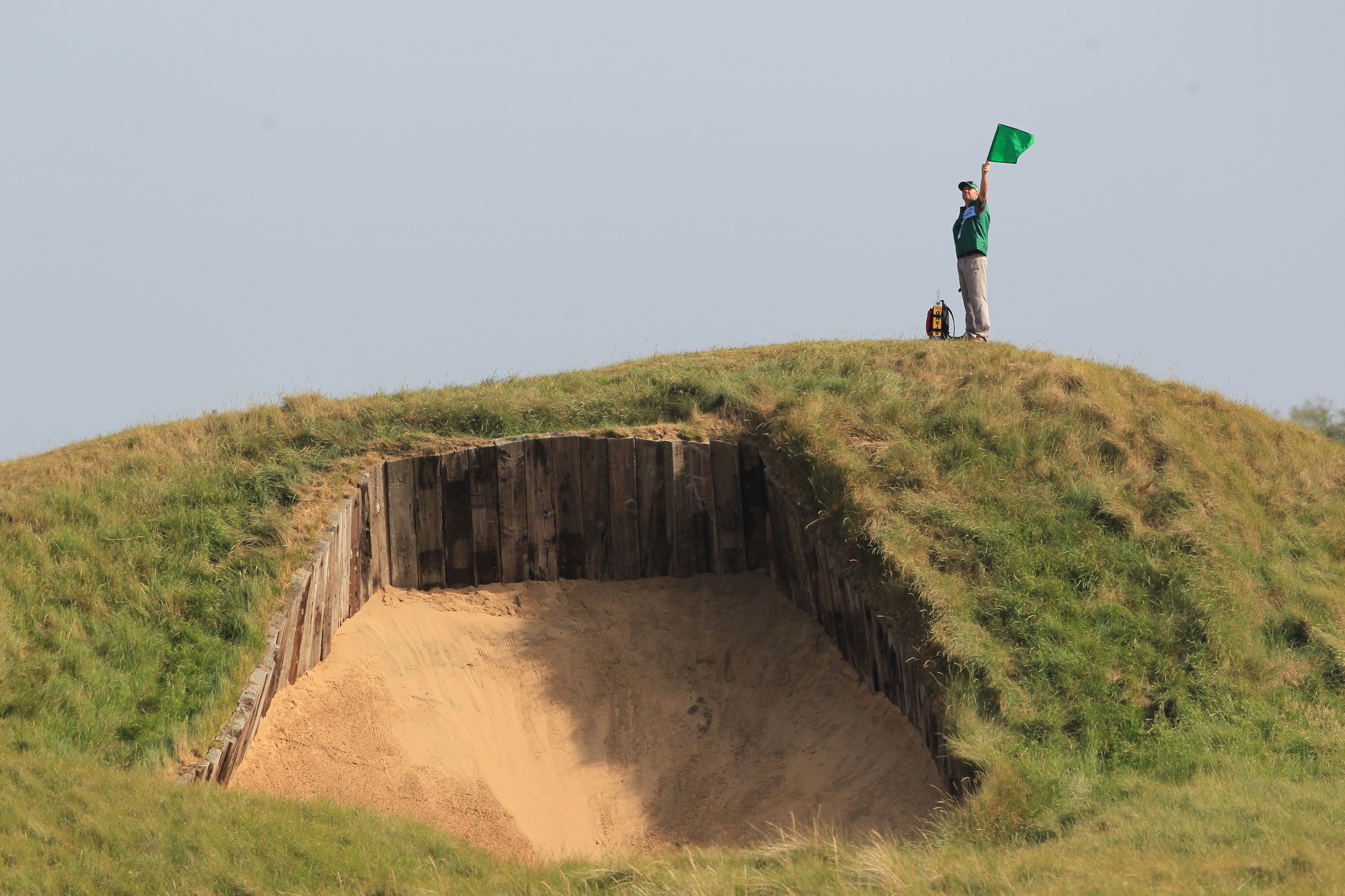 Bunker on the 4th at Royal St George's