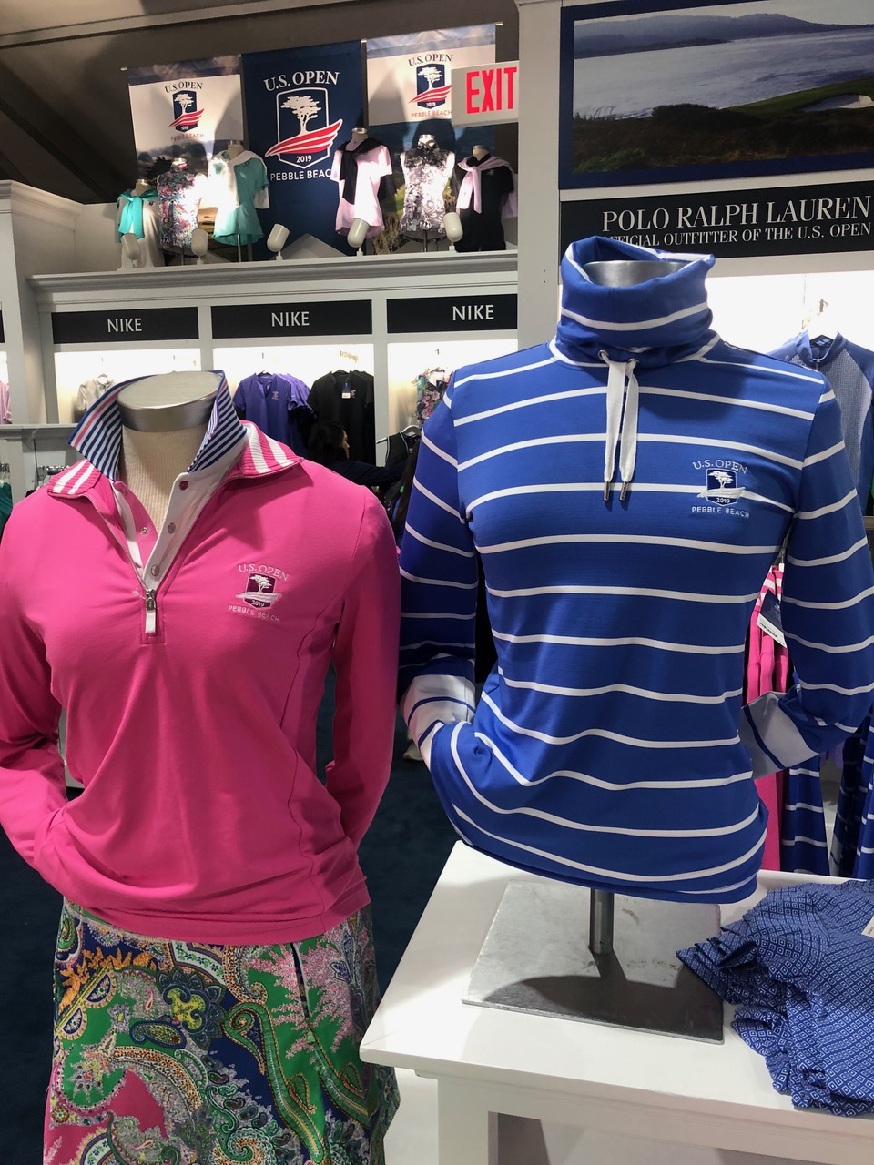 """The Ralph Lauren women's collection anchors the 2019 shop and the overall focus on more practical neck protection has been turned into stylishness with an """"extreme jersey"""" pink sweater ($140) and a $165 drawcord funnelneck golf pullover."""