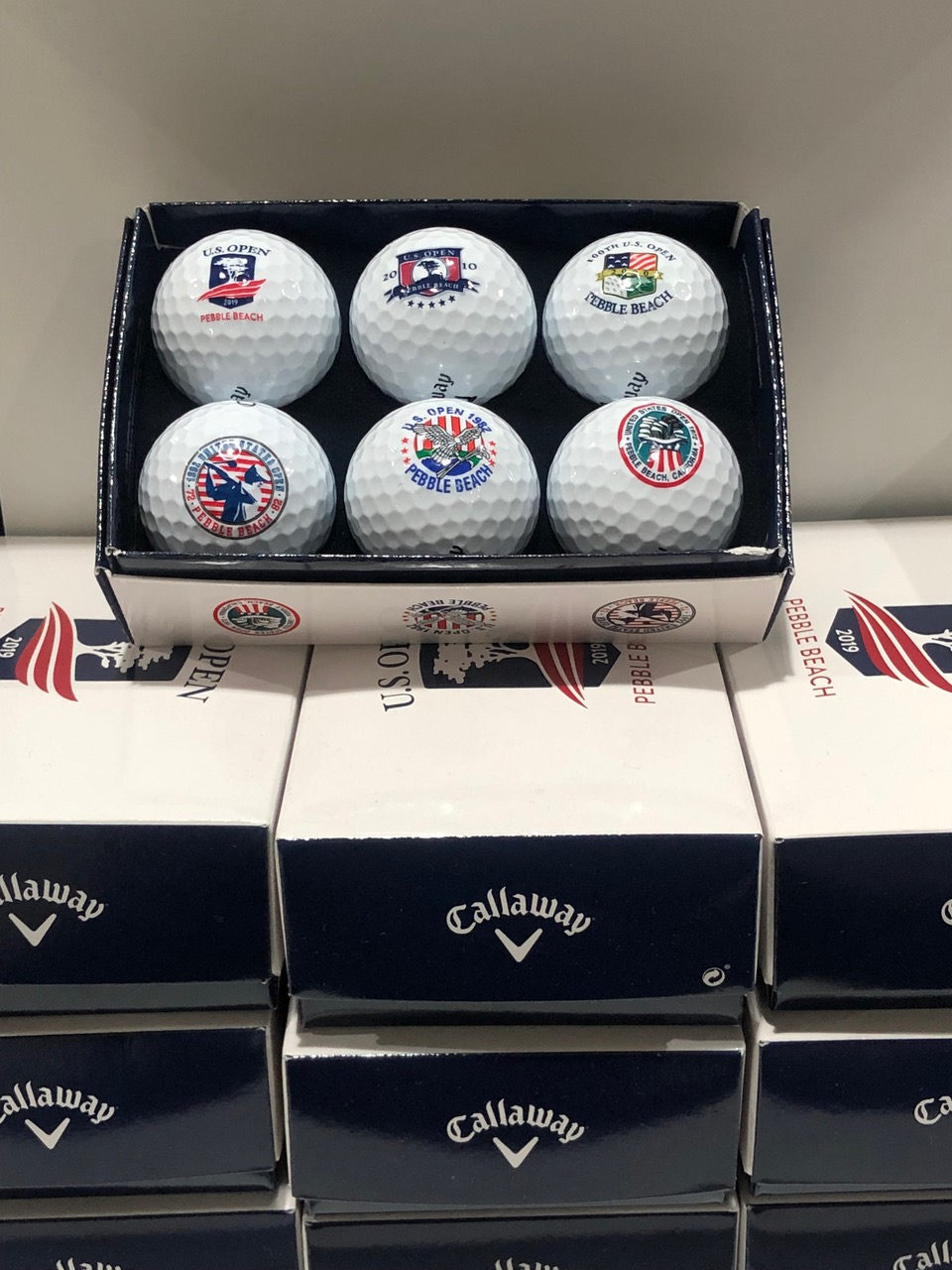 Even with so many historic and unforgettable U.S. Opens, the only sign of previous playings is this collection of Callaway Chrome Softs ($32)