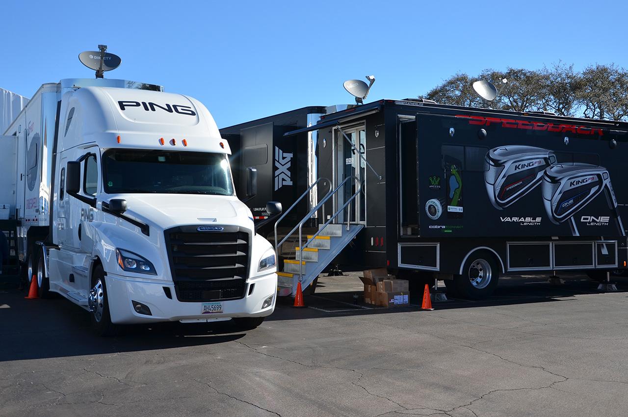 PGA Tour equipment vans
