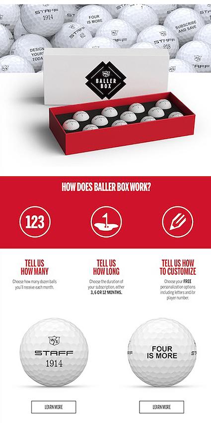 Wilson Staff Model balls
