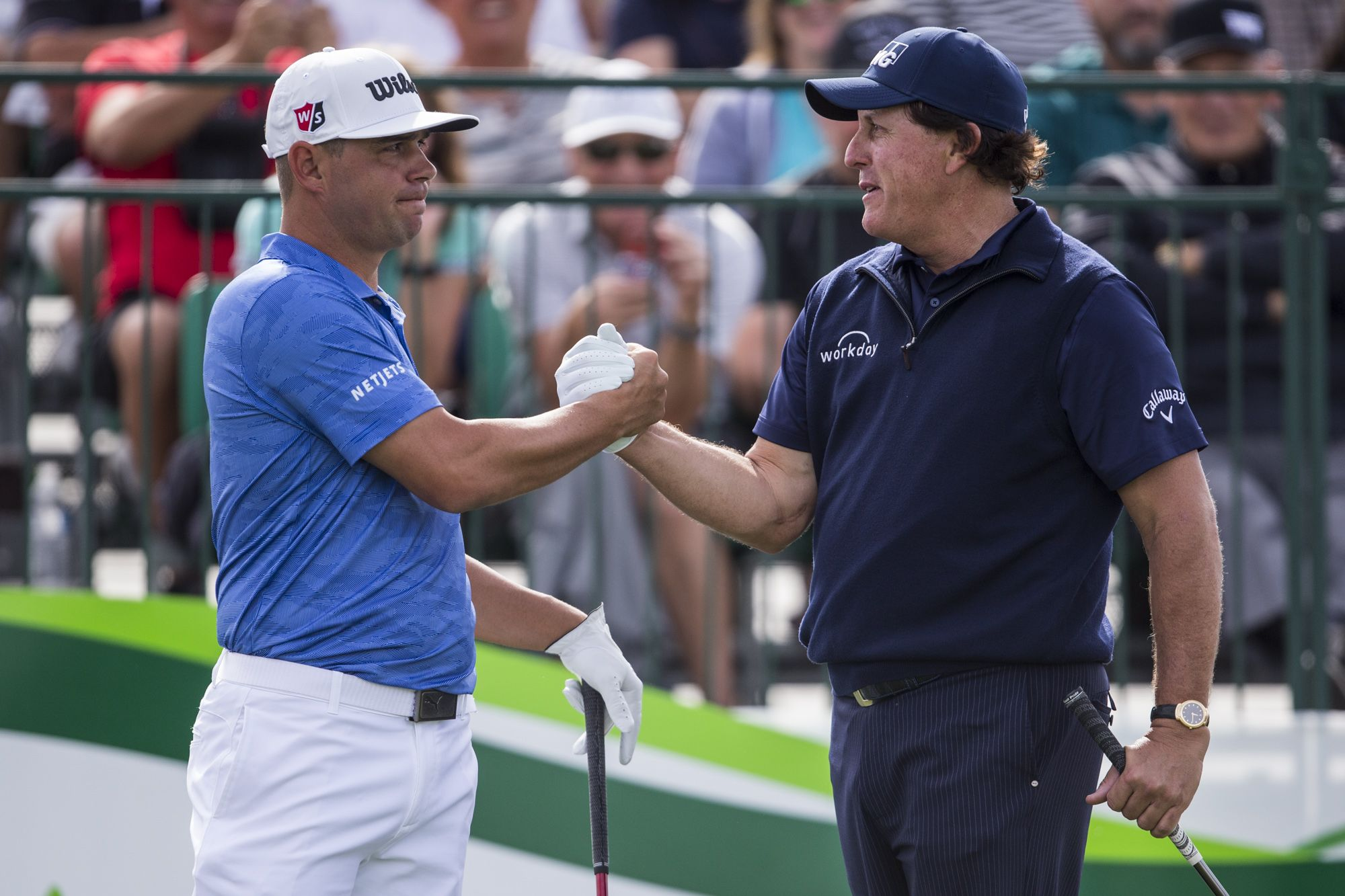 Gary Woodland and Phil Mickelson