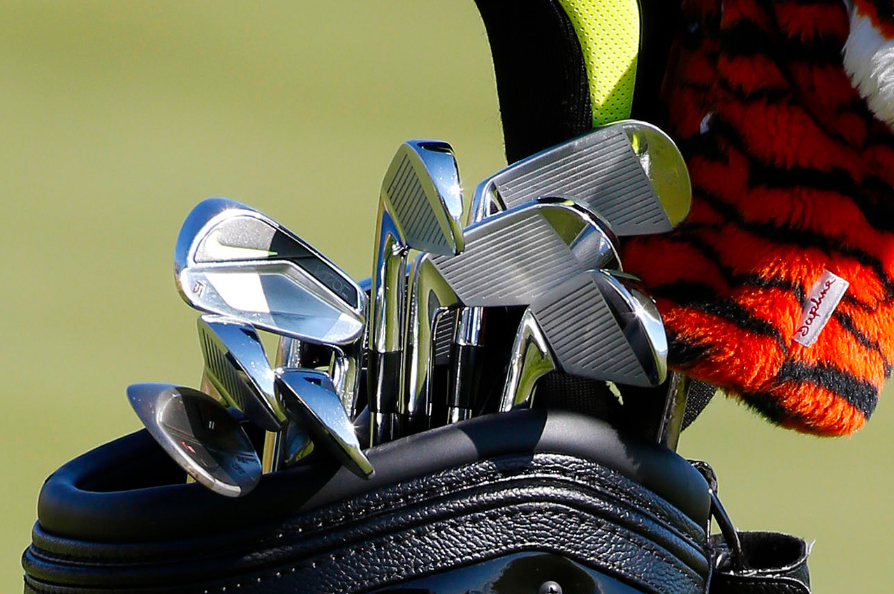Tiger Woods Nike iron in 2015