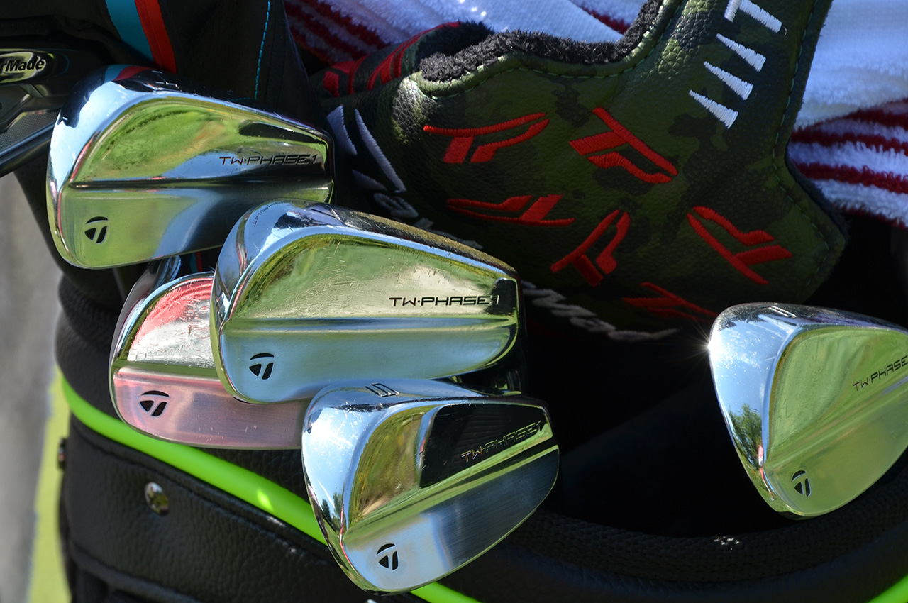 Tiger Woods's TaylorMade irons in 2018