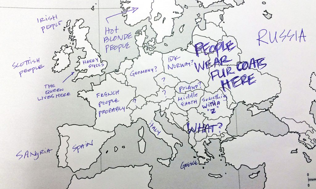Funny Americans And Brits Label Maps Of The Usa Europe