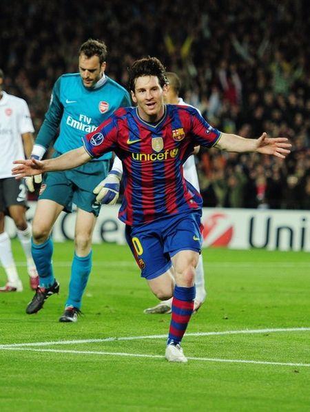 Lionel Messi v Arsenal(Getty Images)