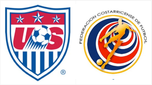USA vs Costa Rica Logos