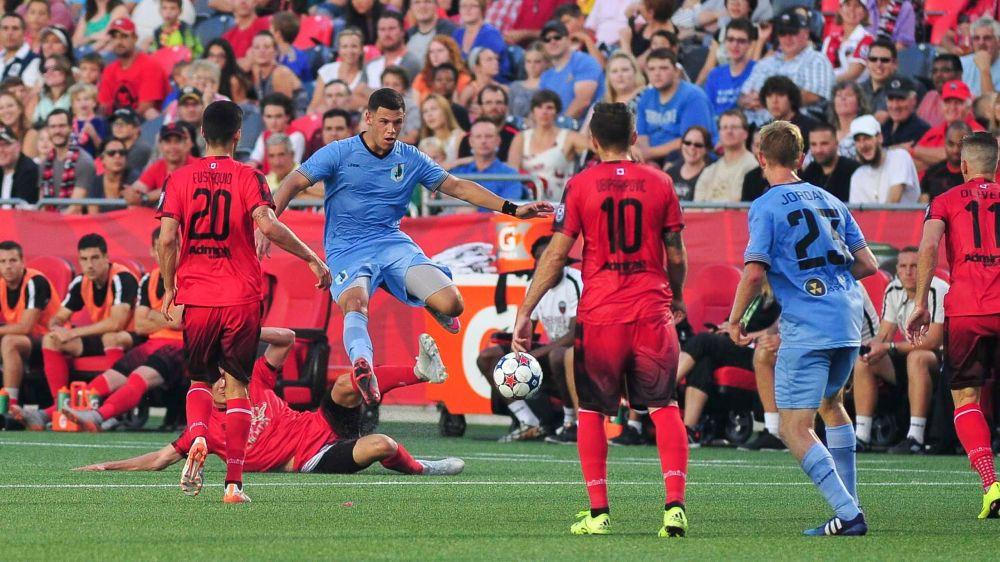 August 15, 2015: Ottawa Fury FC versus Minnesota United FC in the NASL at TD Place Stadium in Ottawa, Canada.