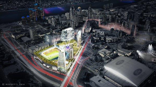 MLS Detroit stadium rendering 1