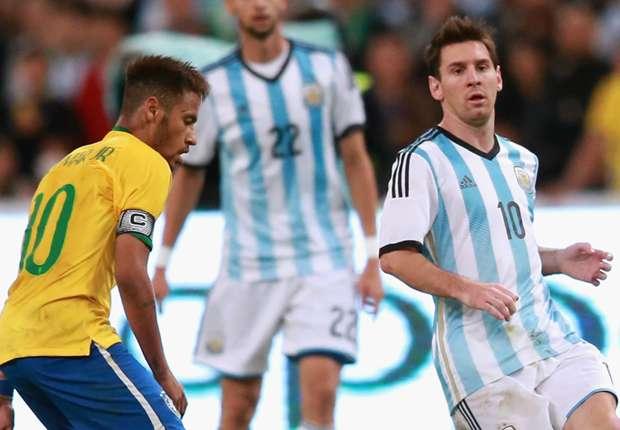 Neymar Lionel Messi Brazil Argentina 94