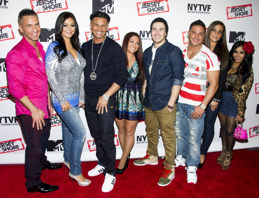 The cast of the Jersey Shore, one celebrated tanning-salon circle. (PHOTO: Charles Sykes/Invision/AP PHOTO)
