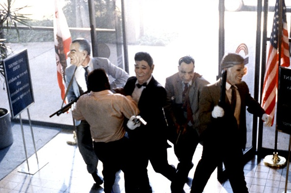 Bank robbers, as depicted in the 1991 film Point Break. (PHOTO: 20th Century Fox/Screengrab)