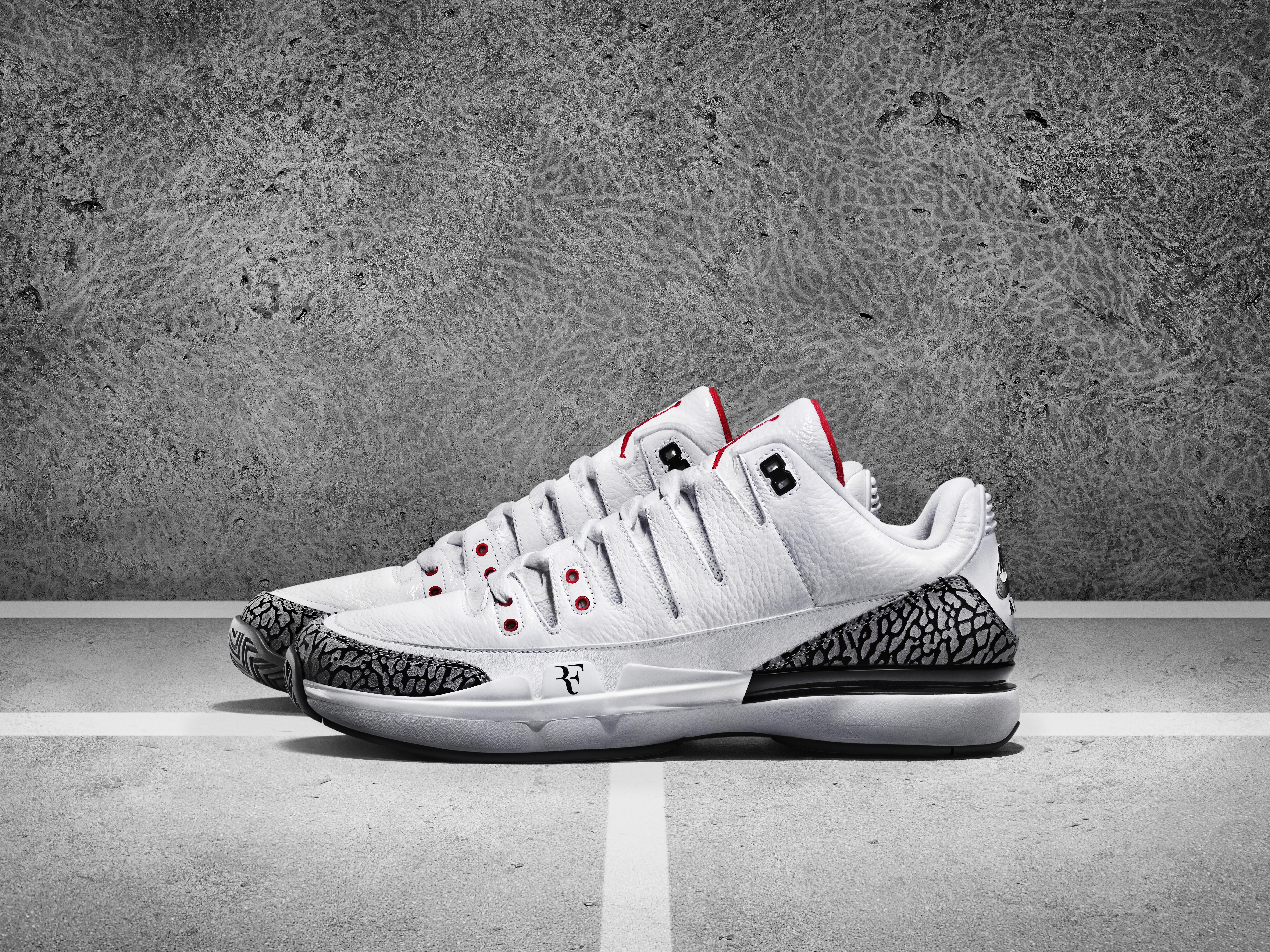 Roger Federer's newest Nike tennis shoe