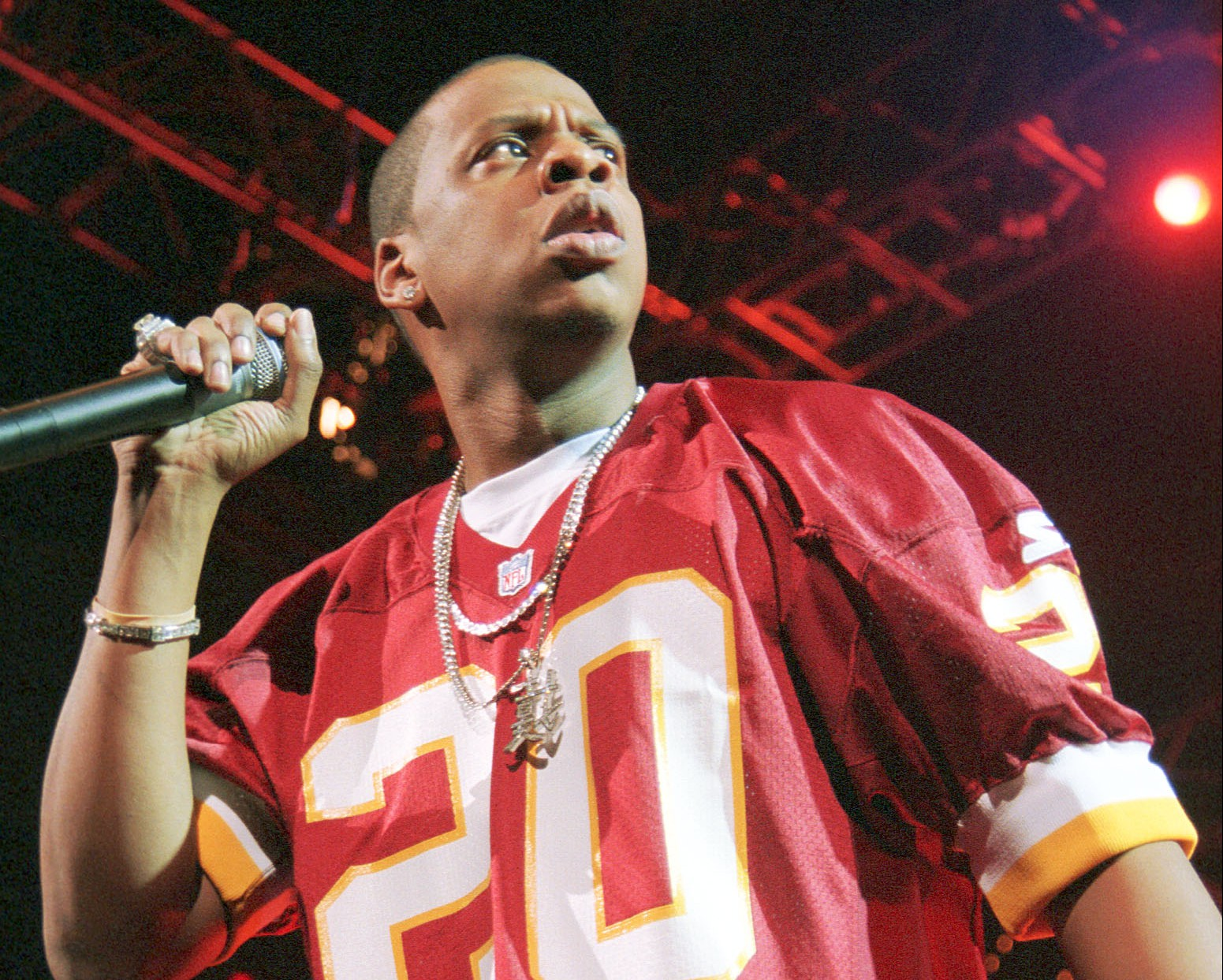 Jay-Z performing in 1999 during the Hard Knock Life tours stop in D.C. USA TODAY
