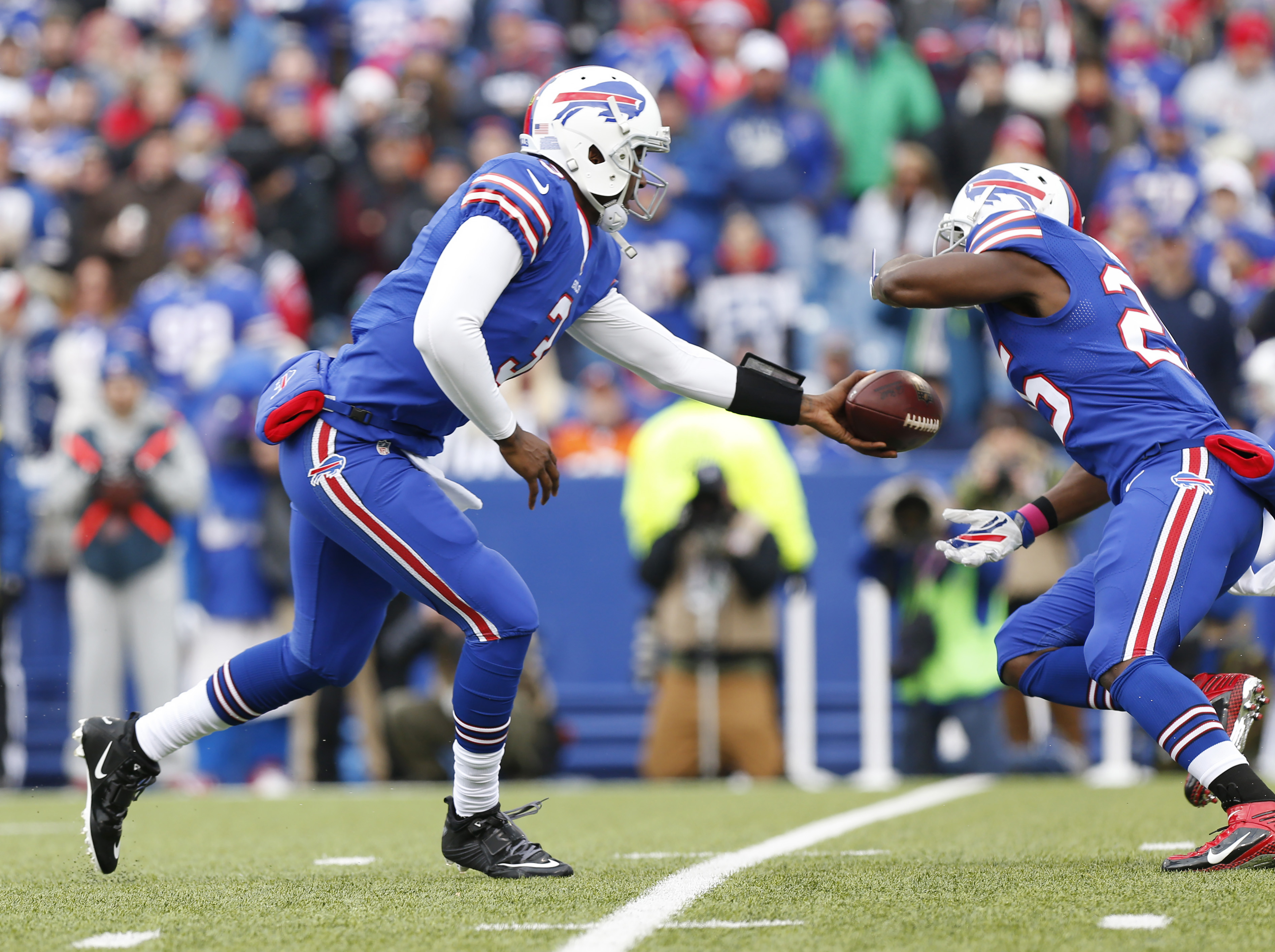 The Buffalo Bills' blue-on-blue uniforms are the worst in the NFL ...