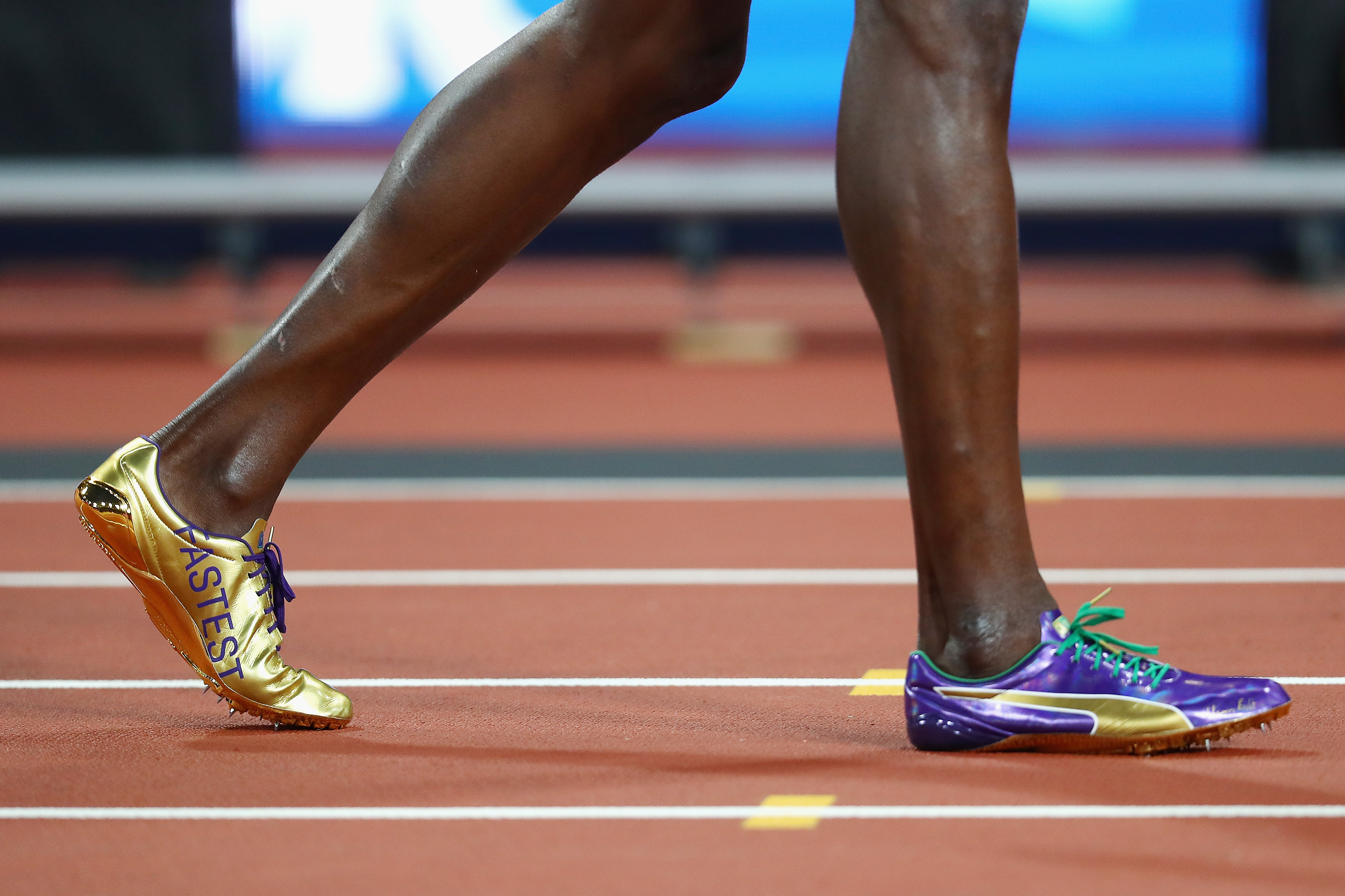Usain Bolt has perfect shoes for his