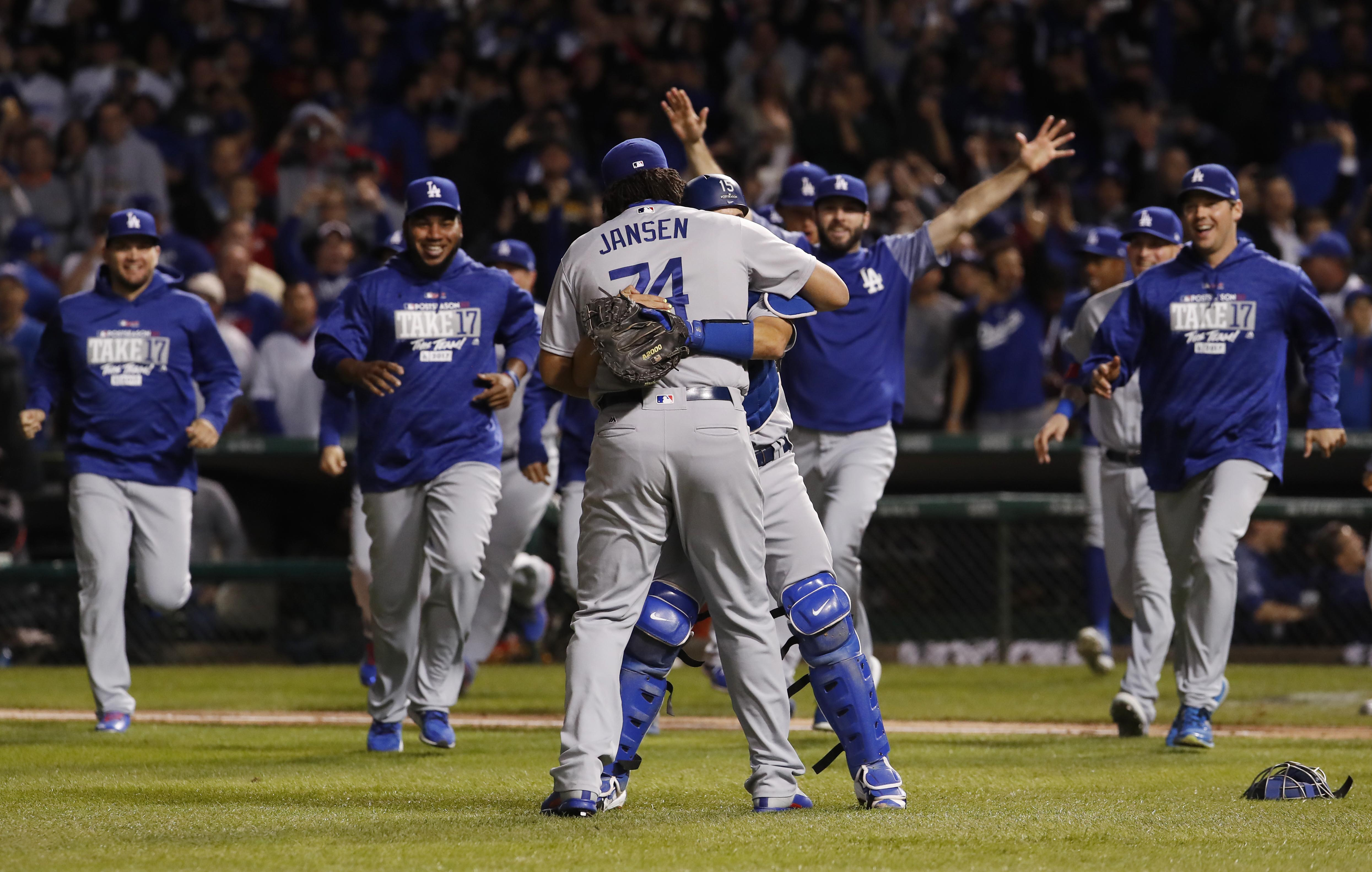 12 photos of Dodgers celebrating after advancing to World ...  Dodgers Baseball