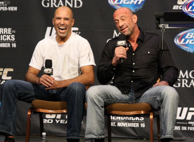 Royce Gracie and Mark Coleman
