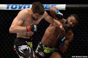 Carlos Condit and Tyron Woodley