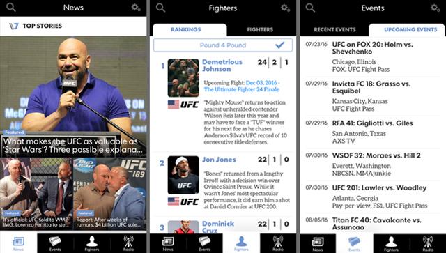 mmajunkie-app-screenshots