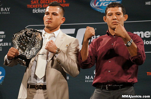 Anthony Pettis and Gilbert Melendez