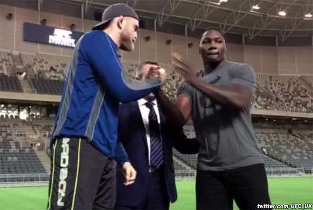 Alexander Gustafsson and Anthony Johnson